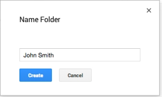 D-Create a folder in each student's name